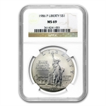 1986-P Statue of Liberty $1 Silver Commemorative - MS-69 NGC