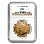 1974 1 oz South African Gold Krugerrand NGC PF-68 UCAM
