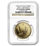 Isle of Man 1994 1 Oz Gold Proof Noble NGC PF-69 UC