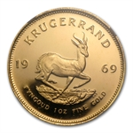 1969 1 oz Gold South Africa Krugerrand NGC PF-67 UCAM