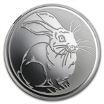 2011 1 oz Silver Russia Year of the Rabbit Proof Coin NGC PF-70