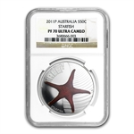 2011 1/2 oz Proof Silver Starfish - Sea Life II NGC PF-70 UCAM