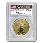 2012-W 1 oz Burnished Gold Eagle MS-69 PCGS (FS) John Mercanti