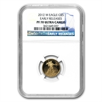 2012-W 1/10 oz Proof Gold American Eagle PF-70 NGC (ER)