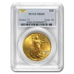 $20 Saint-Gaudens Gold Double Eagle - MS-65 PCGS