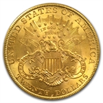 $20 Gold Liberty Double Eagle - MS-62 PCGS