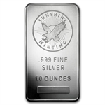 10 oz Sunshine Silver Bar .999 Fine (V2)