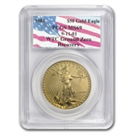 1986 1 oz Gold American Eagle PCGS MS-69 (World Trade Center)