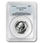 1976-S Washington Silver Quarter MS-68 PCGS