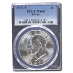 1974-S Eisenhower Silver Dollar MS-68 PCGS