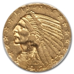 1912-S $5 Indian Gold Half Eagle - AU-55 PCGS