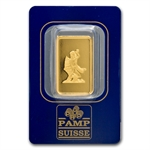 10 gram Zodiac Pamp Gold Aquarius the Water Bearer Bar(In Assay)