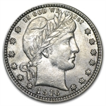 1916-P - Brilliant Uncirculated - Barber Quarter