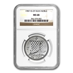 1987 1 oz Isle of Man Platinum Noble (MS-68 NGC)