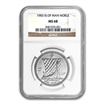 1983 1 oz Isle of Man Platinum Noble (MS-68 NGC)