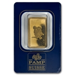 10 gram Zodiac Pamp Suisse Gold Bar (In Assay) - Gemini the Twins