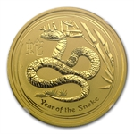 2013 2 oz Gold Lunar Year of the Snake (Series II) NGC MS-70 (ER)