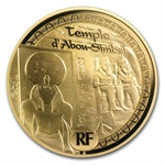2012 50 Euro 1/4 oz Gold Proof Egyptian Heritage - Abu Simbel