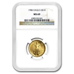 1986 4-Coin Gold American Eagle Set MS-69 NGC