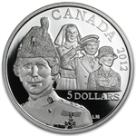 2012 Silver Canadian $5 Commemorative Proof Coin - Georgina Pope