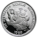 1989 1/2 oz Proof Australian Platinum Koala (w/Box)
