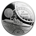2012 10 Euro Silver Proof Great French Ships - The Jeanne D´Arc