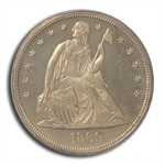 1869 Liberty Seated Dollar PR-64 PCGS - Proof