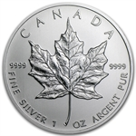 2013 1 oz Silver Canadian Maple Leaf (Brilliant Uncirculated)