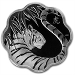 2010-2013 Silver Canadian $15 Lunar Lotus 4 Coin Set in Showcase