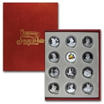 Snow White & The 7 Dwarfs .999 Fine 1 oz Silver Rnd (11 pc set)