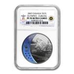 2007 Gold & Silver Canadian Olympic 8 Coin Set PF-70 UCAM NGC