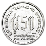 1/2 oz Freidrich Hayek Platinum Denationalization of Money