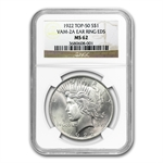 1922 Peace Dollar MS-62 NGC VAM-2A Ear Ring EDS Top-50