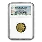 2008-W 1/4 oz Gold Buffalo PF-70 NGC First Year of Issue
