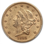 1866 $20 Gold Liberty Double Eagle (Motto) - AU-53 PCGS