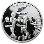 2011 1oz Silver New Zealand All Blacks Silver Proof: The Haka
