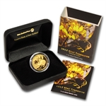 2012 1/4 oz Gold $10 New Zealand Treasures Kowhai Proof