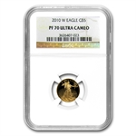 2010-W 4-Coin Proof Gold American Eagle PF-70 NGC Registry Set