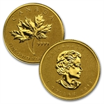 2013 4 Coin (1.4 oz) Gold Canadian Fractional Set - Maple Leaf
