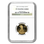 2012-W 4-Coin Proof Gold American Eagle NGC PF-70 Registry Set