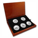 2012 5 oz Silver ATB 5-Coin Set in Elegant Display Box