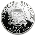 Congo Republic 2011 1000 Francs CFA Christos Voskrese-Easter 2011