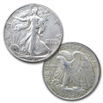 Walking Liberty Halves Short Set (In Dansco Album) Extra Fine