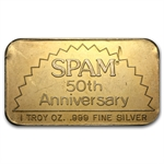 1 oz SPAM Silver Bar .999 Fine