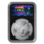1986-2012 Silver Eagle Set - MS-69 NGC - 25th Anniv Black Holder