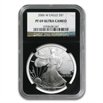 2006-W Proof Silver American Eagle PF-69 NGC (Retro Black Insert)