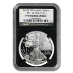 2011-W Proof Silver American Eagle PF-69 NGC (Retro Black Insert)