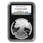 2004-W Proof Silver American Eagle PF-70 NGC (Retro Black Insert)