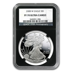 2008-W Proof Silver American Eagle PF-70 NGC (Retro Black Insert)