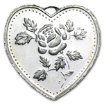 1/2 oz For Someone Special Silver Heart (w/Rose)